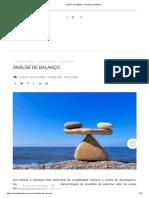 Análise de balanço – Portal de Auditoria