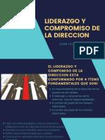 LIDERAZGO Y COMPROMISO DE LA DIRECCION