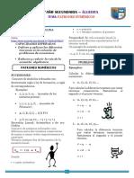 FICHA N° 01 DE CLASE_ÁLGEBRA 1 ERO  secundaria