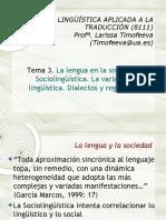 Sociolinguistica y traducción