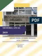 Memorial Juzgado Federal Goya
