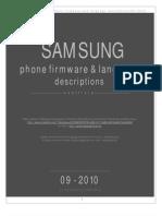 Samsung Firmware Langpacks Descriptions 09 2010