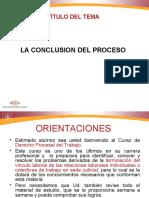Derecho Procesal Del Trabajo, La Conclusión Del Proceso