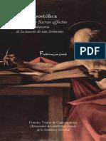 Carta apostólica Scripturae Sacrae affectus
