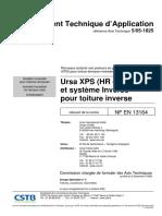 CSTB - Isolation inversée pour toiture terrasse type URSA (Avis Tech)