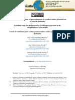 Estudio de factibilidad para el aprovechamiento de residuos sólidos en Riobamba