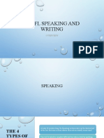 Speaking & Writing Overview