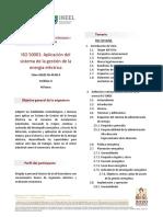 ISO 50001, Aplicación del sistema de la gestión de la energía eléctrica