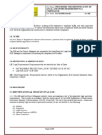 Identification of Legal and Compliance Procedure