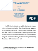 CPM - COST MODEL ANALYSIS IN PROJECT MANAGEMENT