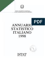 Annuario Statistico Italiano 1998