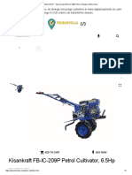 KISAN KRAFT - Buy Kisankraft FB-IC-209P Petrol Cultivator, 6