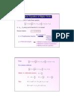 2.2 Higher-order Linear ODE