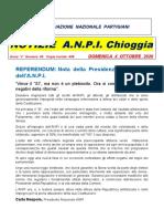 Notiziario ANPI Chioggia numero 60