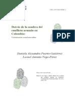 DETRÁS DE LA SOMBRA DEL CONFLICTO ARMADO EN COLOMBIA