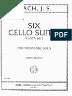 6 Suites Bach para Cello - Trombon