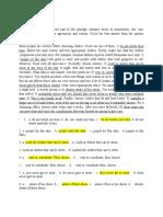 work sheet on editing 1