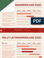 cronograma Rally 2020