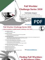 WCAS Presentation Fall Warbler Series 2020 Hotspots