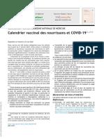 2 Calendrier vaccinal des nourrissons et COVID-19,