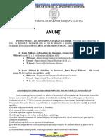 ANUNT recrutare candidati 2019-2020 postliceale