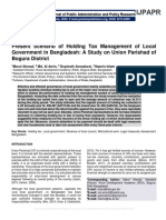 Present Scenario of Holding Tax Management of Local Government in Bangladesh
