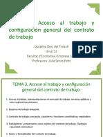 TEMA 3 Acceso al trabajo yy configuración del contrato de trabajo