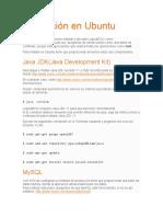 Instalación en Ubuntu