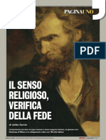 Il senso religioso, verifica della fede.