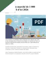 L'IIoT, un marché de 1 000 milliards $ d'ici 2026