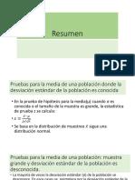 Clase - 05 - RESUMEN - PRUEBA DE HIPÓTESIS