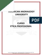 AAU CURSO ETICA PROFESIONAL