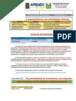 FICHA DE ACTIVIDADES - Tercero