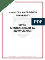 AAU CURSO METODOLOGIA DE LA INVESTIGACION