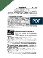 Cosmoglotta September 1938
