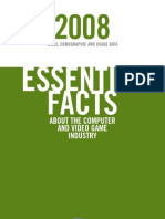 ESSENTIAL FACTS ABOUT THE COMPUTER AND VIDEO GAME INDUSTRY 2008 SALES, DEMOGRAPHIC AND USAGE DATA