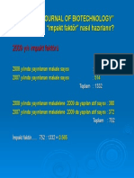 African journal of Biotechnology 2009 IF