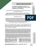 El Proceso Laboral de Impugnación y Cumplimiento de Laudo Arbitral Económico - Autor José María Pacori Cari