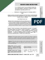 Licencia a Cuenta de Vacaciones Del Servidor Del Decreto Legislativo 276 - Autor José María Pacori Cari