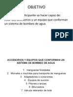 ACCESORIOS Y EQUIPOS QUE CONFORMAN UN SISTEMA DE