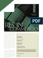 Res in Commercio 01/2011