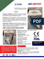 FICHA TÉCNICA KN95 CE y FDA