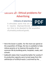 lecture 20 Ethical problems for advertising
