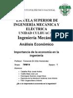 Importancia De La Economía En La Ingeniería