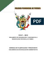 REGLAMENTO DE ORGANIZACION DE FUNCIONES -ROF 2013.pdf