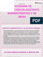 PROGRAMA DE FORMACIÓN EN ASISTENTE ADMINISTRATIVO - SESIÓN 2