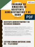 PROGRAMA DE FORMACIÓN EN ASISTENTE ADMINISTRATIVO - SESIÓN 3