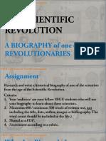 Biography Assignment - Scientific Revolution