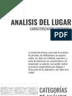 ANÁLISIS DEL LUGAR- CARACT SOSTENIB