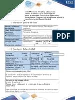 Guía de actividades y rúbrica de evaluación - Fase 5 Analizar posición de Colombia en términos logística según informe del Banco Mundial.